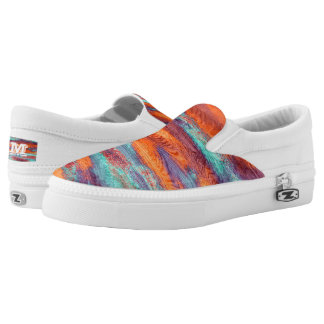 Vintage Wood Grain Modern Abstract Art Slip-On Sneakers