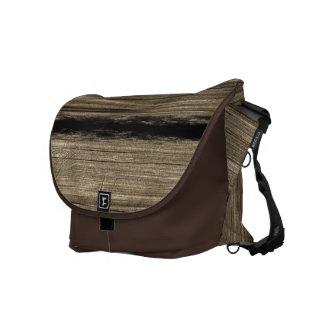 Vintage Wood Plank Messenger Bag Large