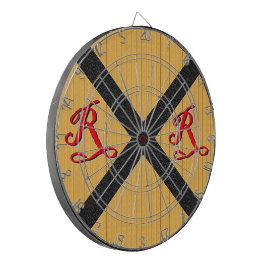 Vintage Wood Railroad Crossing Sign Dartboard