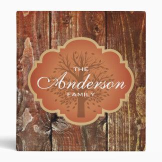 Vintage Wood Rustic Custom Family Tree Genealogy 3 Ring Binder