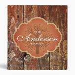 Vintage Wood Rustic Custom Family Tree Genealogy Vinyl Binders