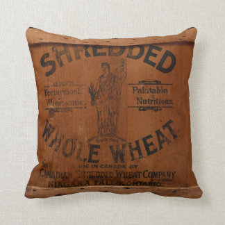 Vintage Wood Shipping Crate Photo Industrial Chic Throw Pillow