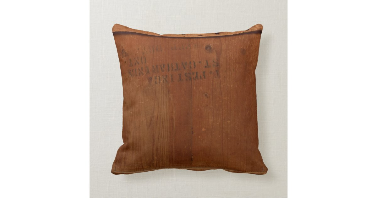 Vintage Wood Shipping Crate Photo Industrial Chic Throw Pillow  Zazzle