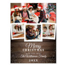 Vintage Wood & Snow | Holiday 4 Photo Card