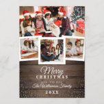 "Vintage Wood & Snow | Holiday 4 Photo Card<br><div class=""desc"">Create your own ""Vintage Wood & Snow 