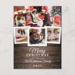 "Vintage Wood & Snow   Holiday 4 Photo Card<br><div class=""desc"">Create your own ""Vintage Wood & Snow   Holiday 4 Photo Card"" by Titan Studios.</div>"