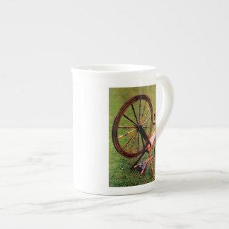 Vintage Wood Spinning Wheel Love to Spin Mug