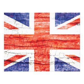 Vintage Wood Union Jack British(UK) Flag Letterhead