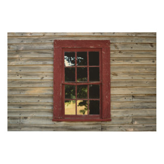 Vintage wood wall and window background wood print