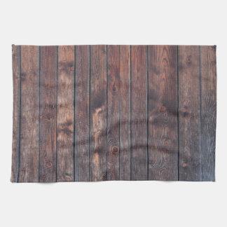 Vintage wood wall texture hand towel