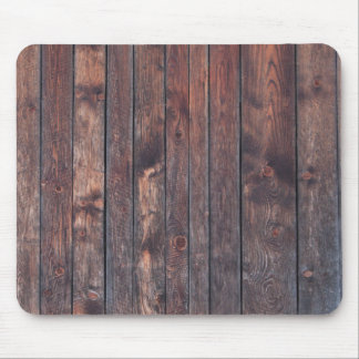 Vintage wood wall texture mouse pad
