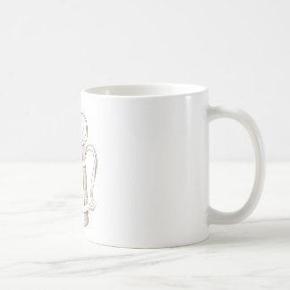 Vintage wooden beer glass coffee mug