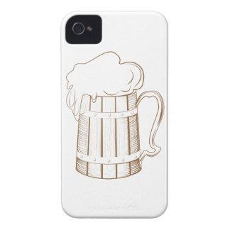 Vintage wooden beer glass iPhone 4 Case-Mate case