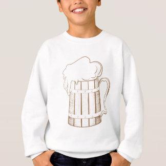 Vintage wooden beer glass sweatshirt