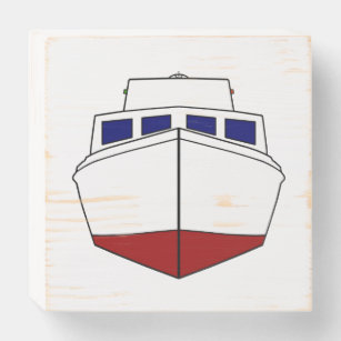 Vintage Wooden Cabin Cruiser Boat Wooden Box Sign