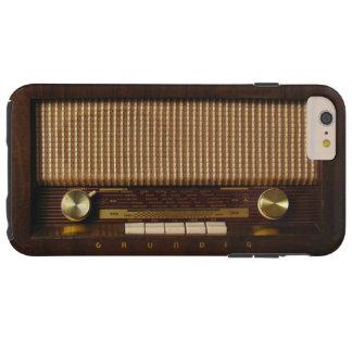 Vintage wooden radio tough iPhone 6 plus case