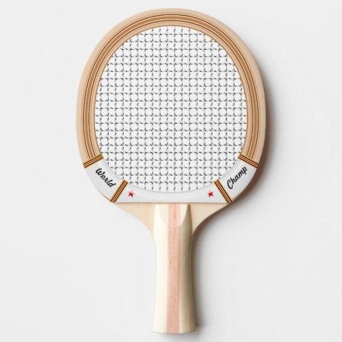 Vintage Wooden Tennis Racket Ping-Pong Paddle