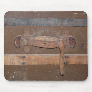 Vintage Wooden Trunk Mouse Pad
