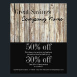 """vintage woodgrain handyman construction flyer<br><div class=""""desc"""">vintage country wood grain construction business  promotional business cards,  gift certificate and promotional products such as flyers,  coupons,  t-shirts and announcements are available for this design!</div>"""