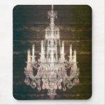 vintage woodgrain purple chandelier fashion mousepads