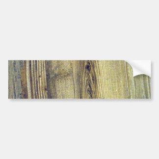 Vintage Woodgrain Texture Bumper Sticker