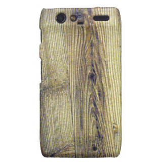 Vintage Woodgrain Texture Droid RAZR Cases