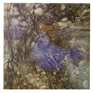 "Vintage Woodland Fairy and Sprites 6"" Tile"