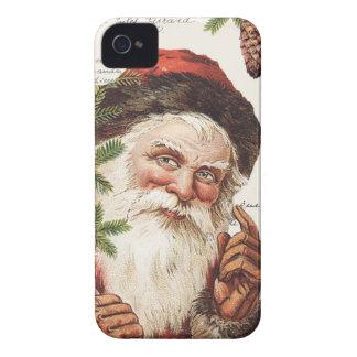 vintage woodland Santa iPhone 4 Covers