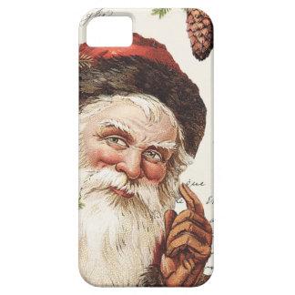 vintage woodland Santa iPhone 5 Covers