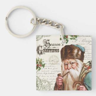 vintage woodland Santa Acrylic Key Chains