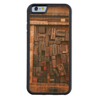 Vintage Woodtype Printing Carved Cherry iPhone 6 Bumper Case