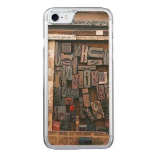 Vintage Woodtype Printing Carved iPhone 8/7 Case