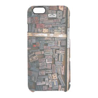 Vintage Woodtype Printing Clear iPhone 6/6S Case