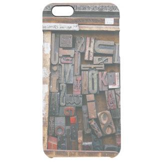 Vintage Woodtype Printing Clear iPhone 6 Plus Case
