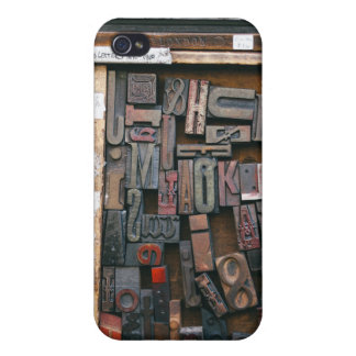 Vintage Woodtype Printing Cover For iPhone 4