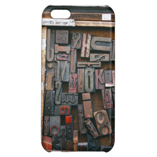 Vintage Woodtype Printing Cover For iPhone 5C
