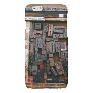 Vintage Woodtype Printing Glossy iPhone 6 Case