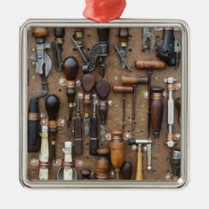 Vintage Woodworking And Leather Craft Tools Metal Ornament at Zazzle