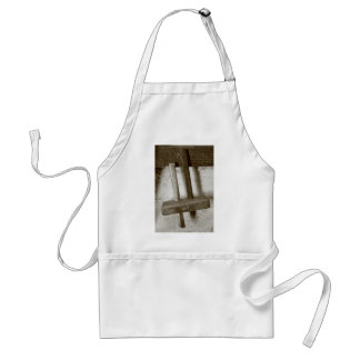 Vintage woodworking tool adult apron