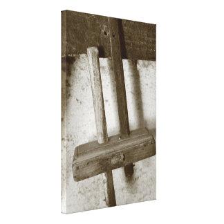 Vintage woodworking tool canvas print