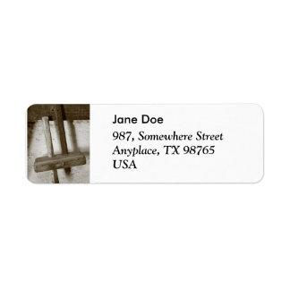 Vintage woodworking tool label