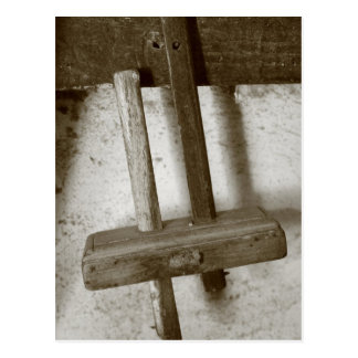 Vintage woodworking tool postcard