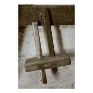 Vintage woodworking tool poster
