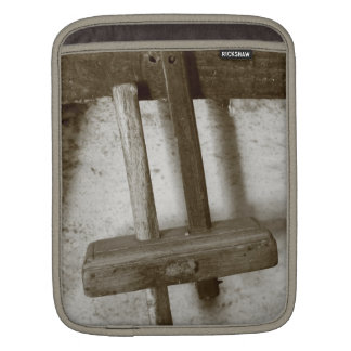 Vintage woodworking tool sleeve for iPads