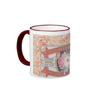 """Vintage """"Woodworth Co"""" Label Mug"""