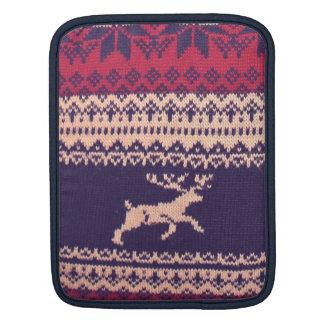 Vintage wool Deer iPad Sleeve