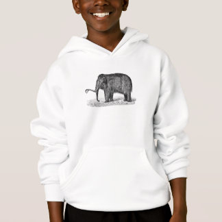 Vintage Woolly Mammoth Illustration Wooly Mammoths Hoodie