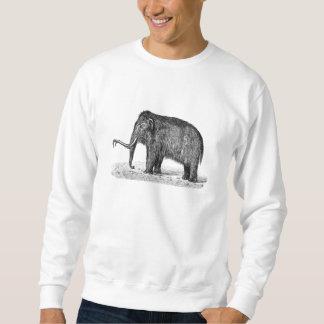 Vintage Woolly Mammoth Illustration Wooly Mammoths Sweatshirt