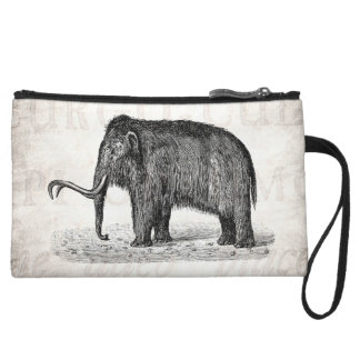 Vintage Woolly Mammoth Illustration Wooly Mammoths Wristlet Wallet