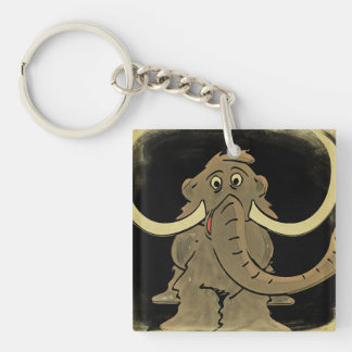 Vintage Woolly Mammoth Keychain